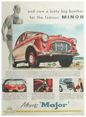 Morris Major advert